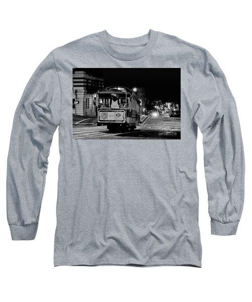 Cable Car At Night - San Francisco Long Sleeve T-Shirt
