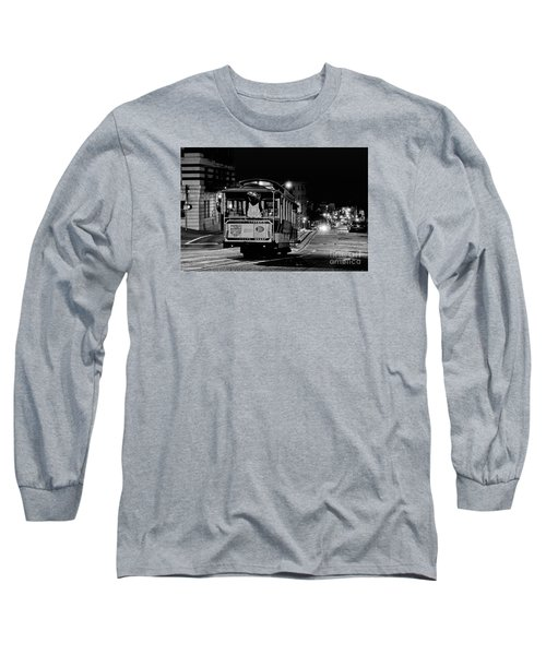 Cable Car At Night - San Francisco Long Sleeve T-Shirt