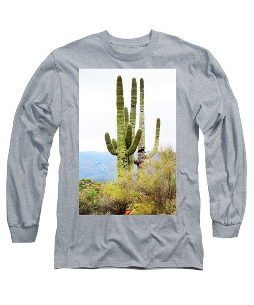 Long Sleeve T-Shirt featuring the photograph Cactus by Angi Parks