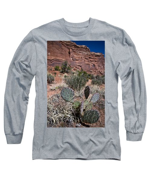 Cactus In Arches Nat'l Park Long Sleeve T-Shirt