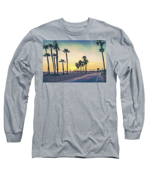 Long Sleeve T-Shirt featuring the photograph Cali Sunset by Az Jackson