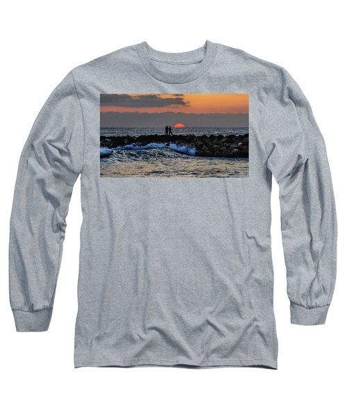 California Evening With Sandstone Effect Long Sleeve T-Shirt