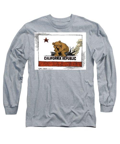 California Fire Bear Grieves Long Sleeve T-Shirt