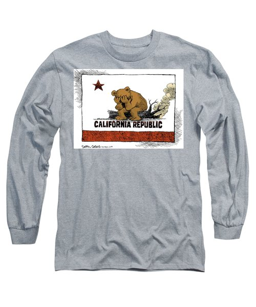 California Fire Bear Grieves Long Sleeve T-Shirt