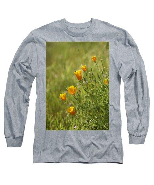 Long Sleeve T-Shirt featuring the photograph California Poppy by Doug Herr
