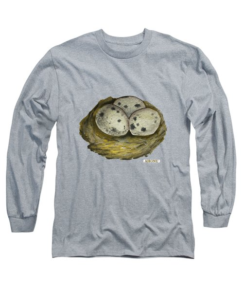 California Quail Eggs In Nest Long Sleeve T-Shirt