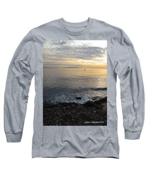 Long Sleeve T-Shirt featuring the photograph California Sunset by Joan  Minchak