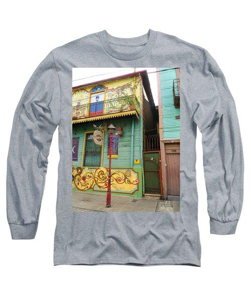 Long Sleeve T-Shirt featuring the photograph Caminito La Boca by Silvia Bruno