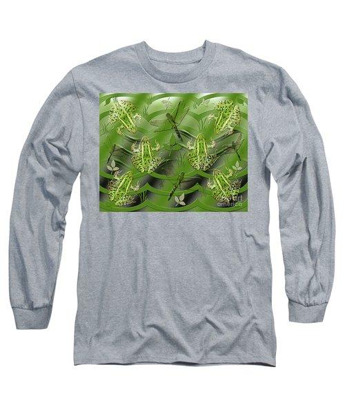 Camo Frog Dragonfly Long Sleeve T-Shirt