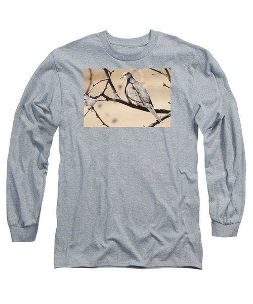 Camouflaged Mourning Dove Long Sleeve T-Shirt