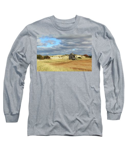 Long Sleeve T-Shirt featuring the photograph Camp On The Marsh And Dunes by Roupen  Baker