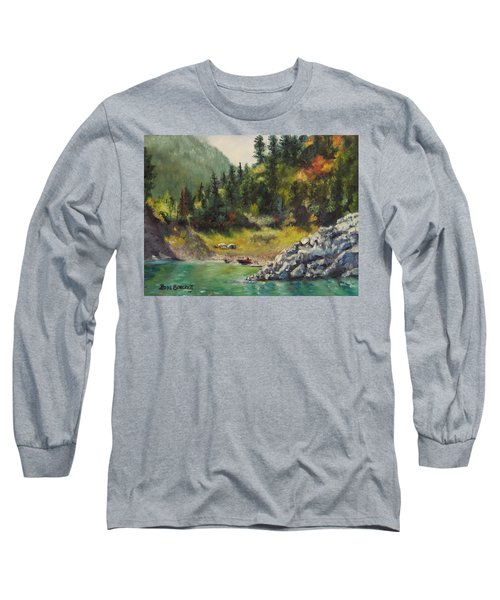 Camping On The Lake Shore Long Sleeve T-Shirt