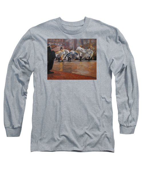 Can Can In The Moulin Rouge Paris Long Sleeve T-Shirt by Nop Briex