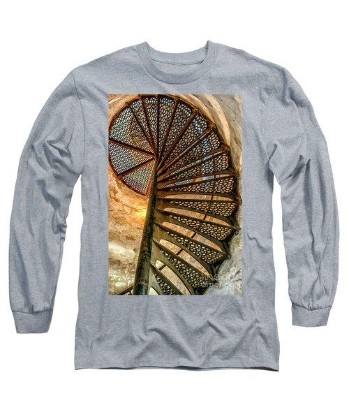 Cana Island Lighthouse Staircase Long Sleeve T-Shirt