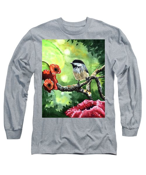 Canadian Chickadee Long Sleeve T-Shirt