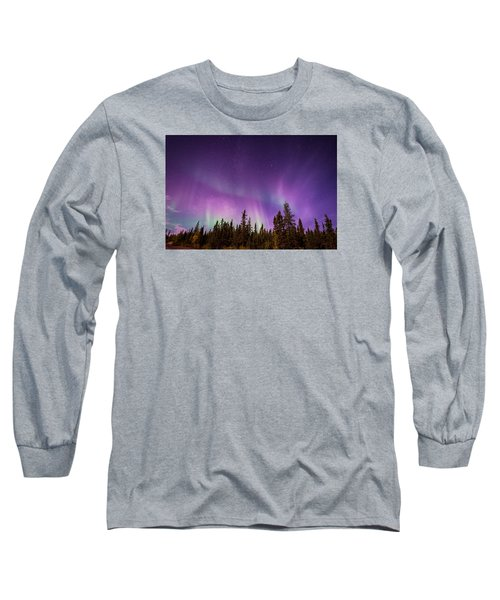 Canadian Northern Lights Long Sleeve T-Shirt by Serge Skiba