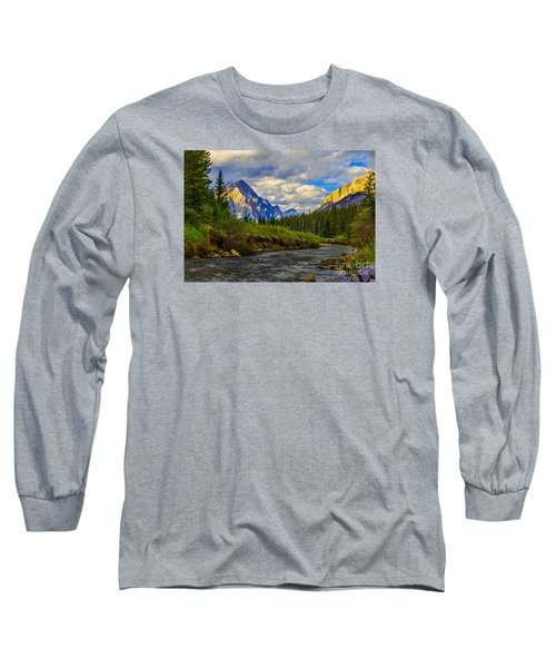 Canadian Rocky Mountains Long Sleeve T-Shirt by John Roberts
