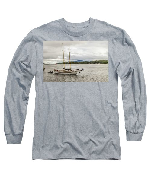 Canadian Sailing Schooner Long Sleeve T-Shirt by Timothy Latta