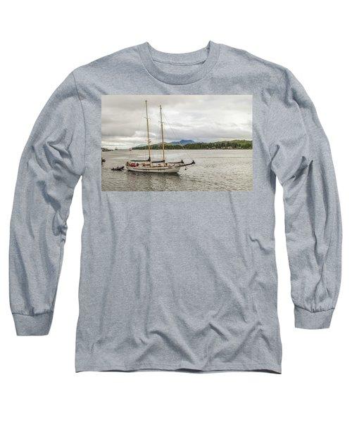 Canadian Sailing Schooner Long Sleeve T-Shirt