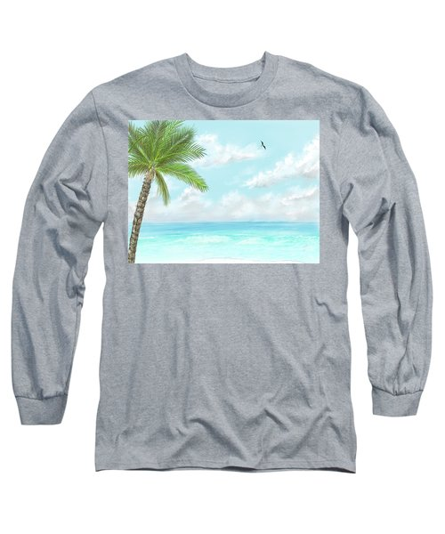 Long Sleeve T-Shirt featuring the digital art Cancun At Christmas by Darren Cannell