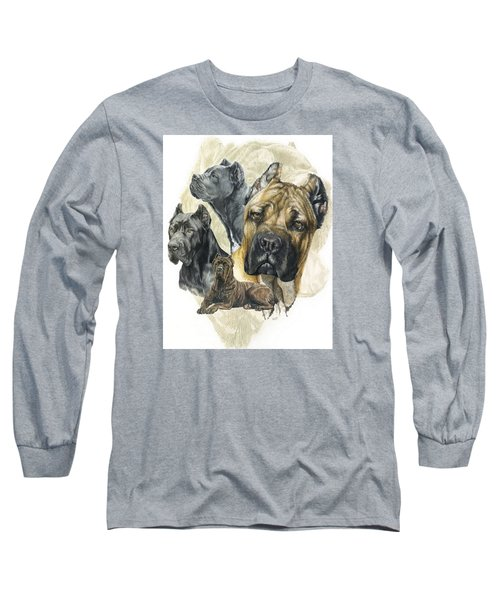 Cane Corso W/ghost Long Sleeve T-Shirt by Barbara Keith