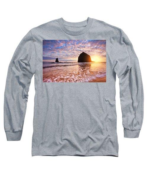 Cannon Beach Sunset Classic Long Sleeve T-Shirt