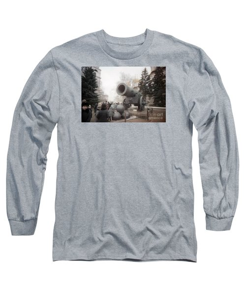 cannon in Moscow Long Sleeve T-Shirt by Ted Pollard