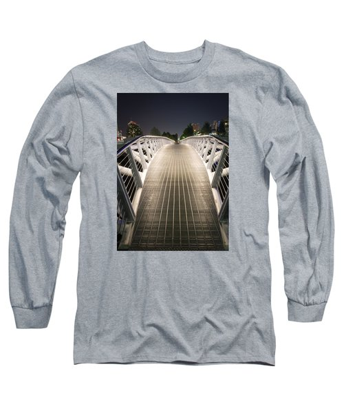Canoe Bridge  Long Sleeve T-Shirt by Sabine Edrissi