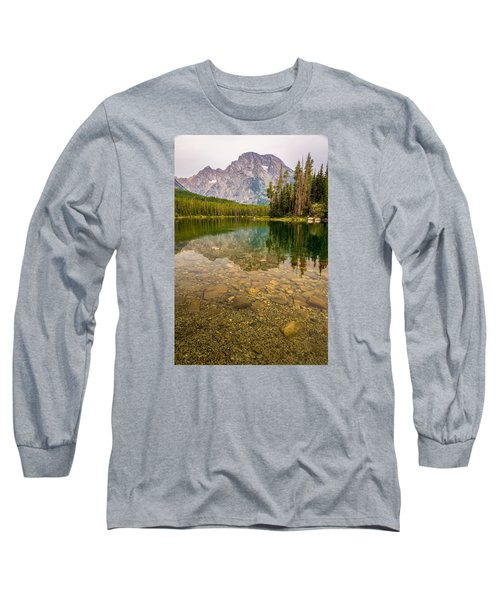 Canoe Camping In The Teton Range Long Sleeve T-Shirt by Serge Skiba