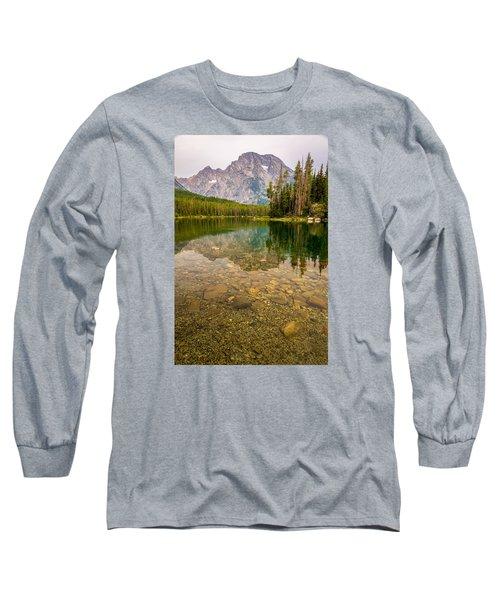 Canoe Camping In The Teton Range Long Sleeve T-Shirt