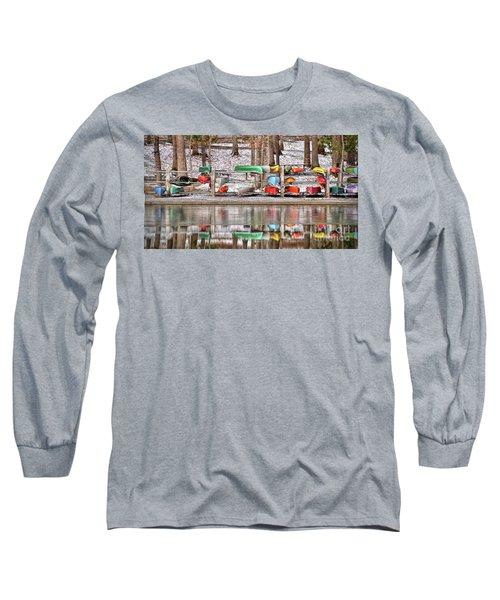 Canoe Reflections Long Sleeve T-Shirt