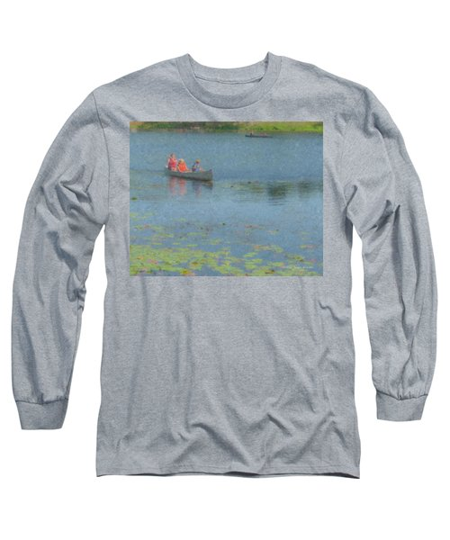 Canoes On Shovelshop Pond Long Sleeve T-Shirt