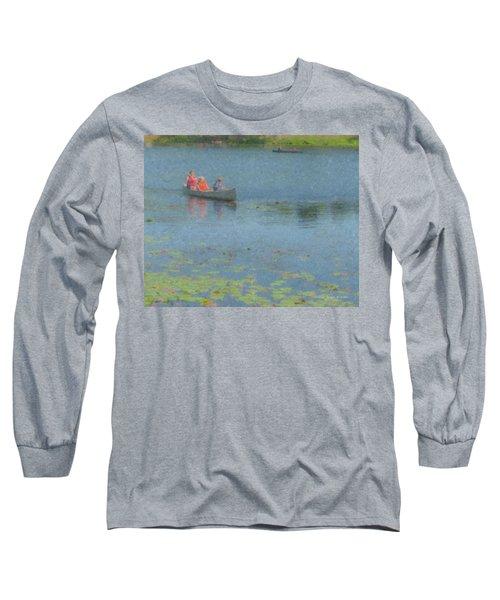 Canoes On Shovelshop Pond Long Sleeve T-Shirt