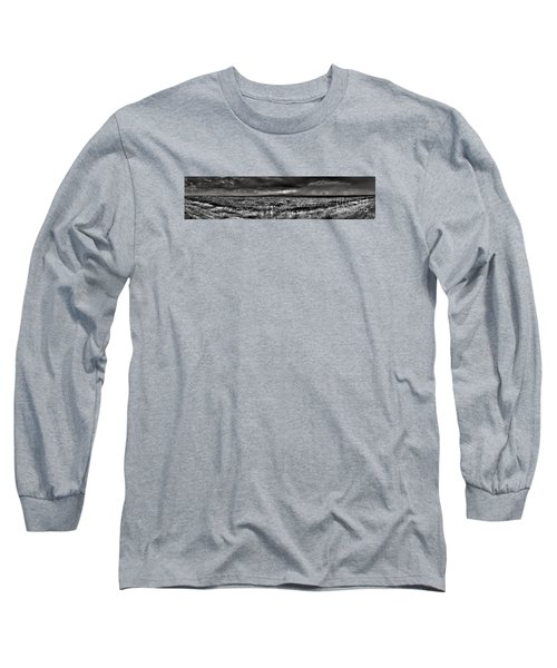 Long Sleeve T-Shirt featuring the digital art Canon City Storm Pano by William Fields