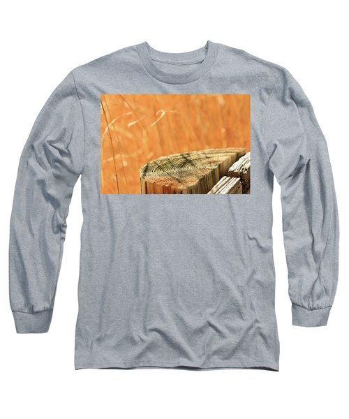 Cantigny Fence Post Long Sleeve T-Shirt by Joni Eskridge