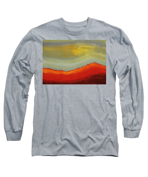 Canyon Outlandish Original Painting Long Sleeve T-Shirt by Sol Luckman