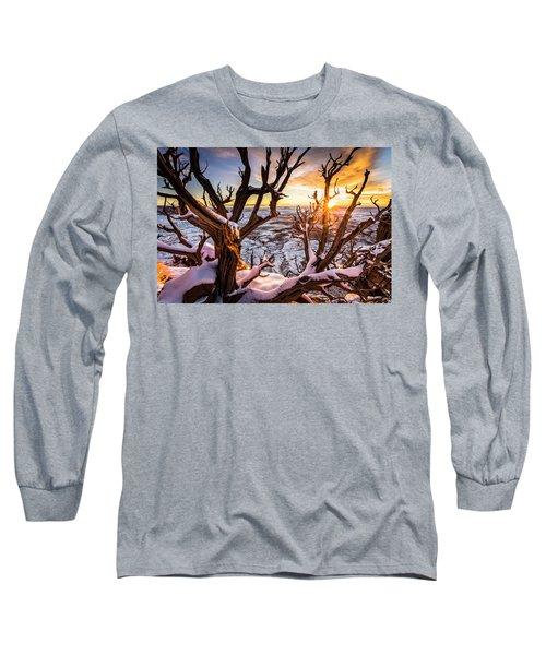 Canyonlands Winter Sunset Long Sleeve T-Shirt