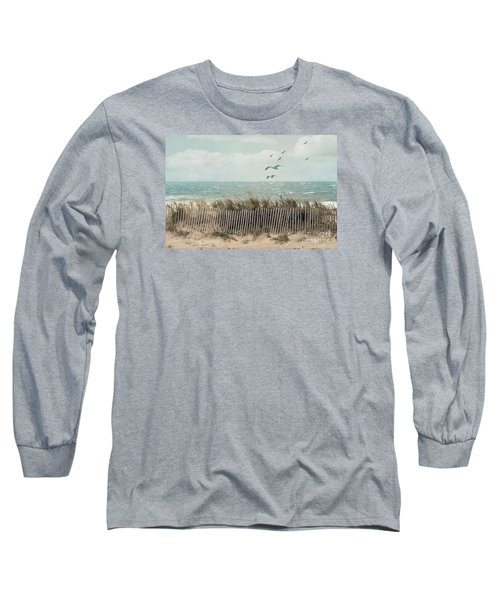 Cape Cod Beach Scene Long Sleeve T-Shirt by Juli Scalzi