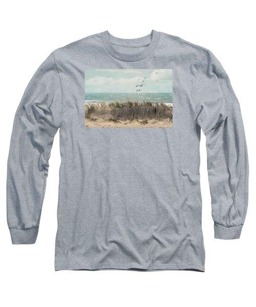 Cape Cod Beach Scene Long Sleeve T-Shirt