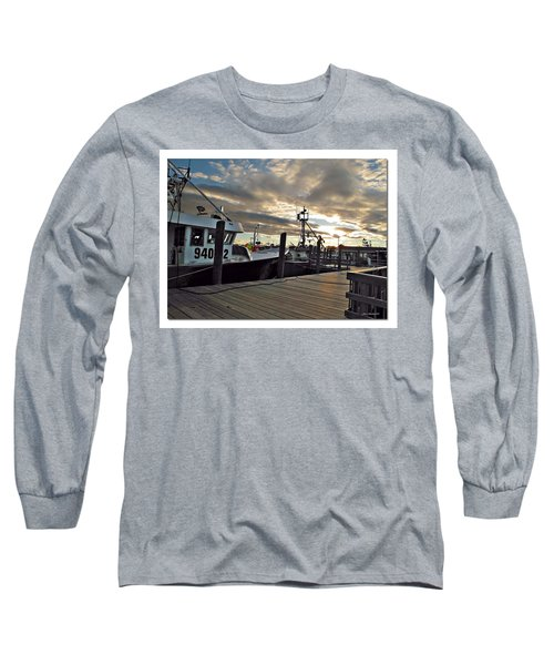 Long Sleeve T-Shirt featuring the photograph Cape Cod Harbor by Joan  Minchak
