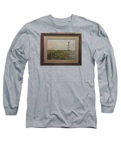 Long Sleeve T-Shirt featuring the painting Cape Hatteras Light House by Richard Benson