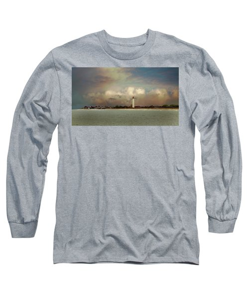 Cape May Lighthouse II Long Sleeve T-Shirt by John Rivera