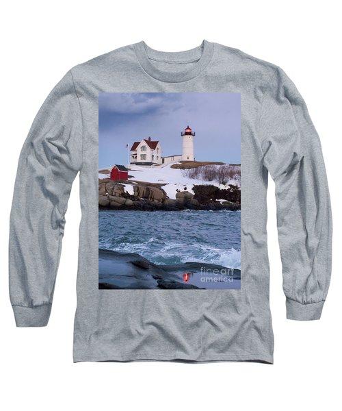 Cape Neddick Light At Dusk, York, Maine 21073 Long Sleeve T-Shirt