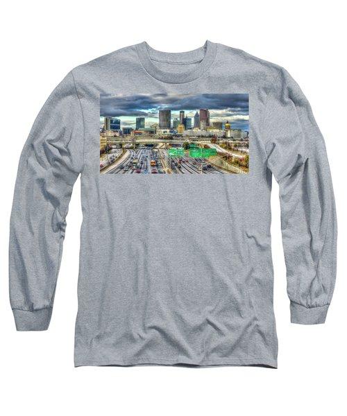 Capital Of The South Atlanta Skyline Cityscape Art Long Sleeve T-Shirt