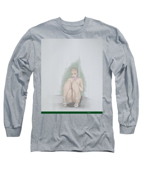 Long Sleeve T-Shirt featuring the mixed media Captive by TortureLord Art