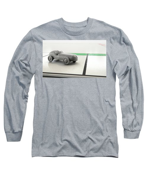 Car Icon On A Boardgame Long Sleeve T-Shirt