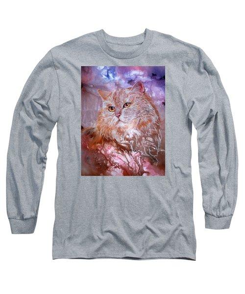 Caramel Cream Long Sleeve T-Shirt by Sherry Shipley