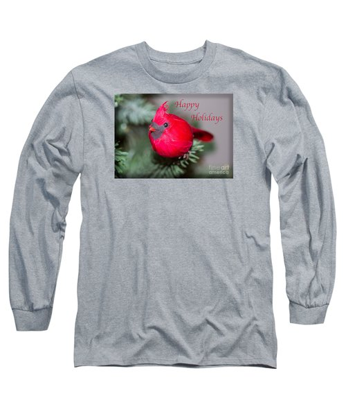 Cardinal Happy Holidays Long Sleeve T-Shirt