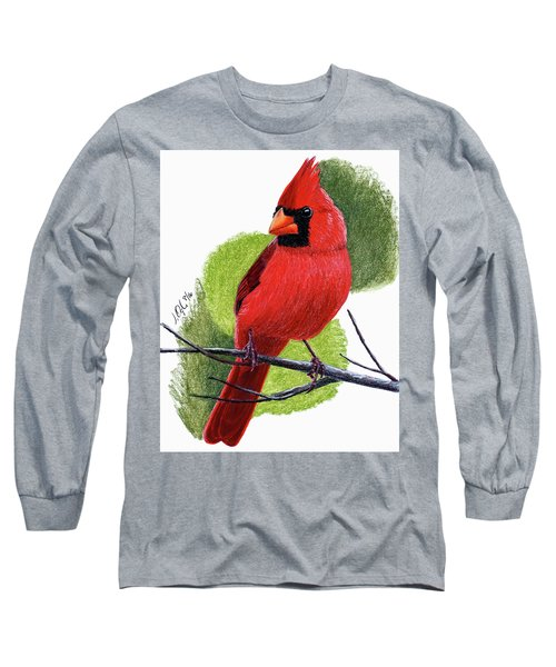 Cardinal1 Long Sleeve T-Shirt by Joseph Ogle