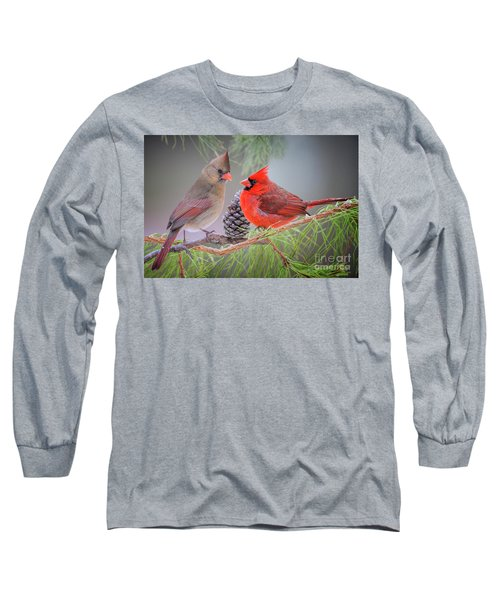 Cardinals In Pine Long Sleeve T-Shirt